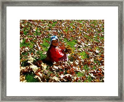 Fall Is Fun Framed Print by Catherine Natalia  Roche