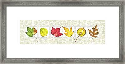 Fall Leaf Panel Framed Print