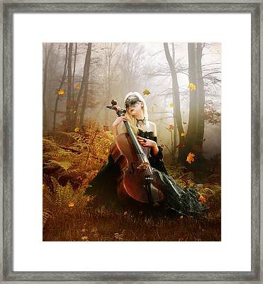 Fall Melody Framed Print by Mary Hood