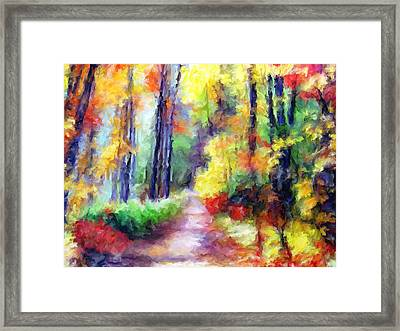 Fall Melody Framed Print by Marilyn Sholin