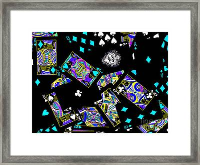Fall Of The House Of Cards Framed Print by Wingsdomain Art and Photography
