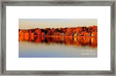 Fall On Horn Pond Framed Print