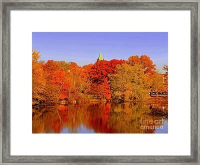Fall On Mystic Lake Framed Print