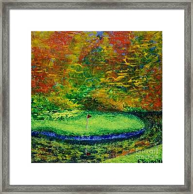 Fall On The Green Framed Print by Emily Young