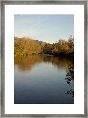 Fall On The Lake Framed Print by Margaret Steinmeyer