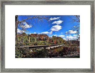 Fall On The Tracks Framed Print
