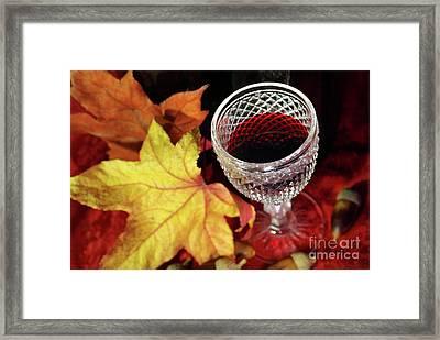 Fall Red Wine Framed Print
