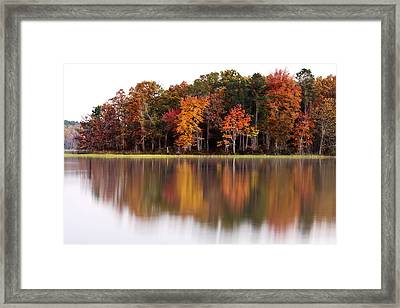 Fall Reflection Framed Print by CWellsPhotography