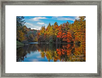 Fall Reflection Framed Print