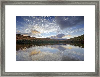 Fall Reflections At Heart Lake In Adirondack Park- New York Framed Print