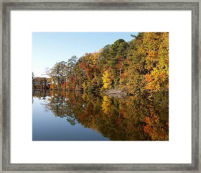 Fall Reflections Framed Print by Larry Krussel