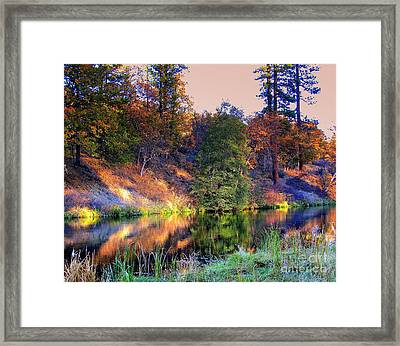 Framed Print featuring the photograph Fall River by Irina Hays