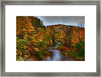 Fall River Framed Print