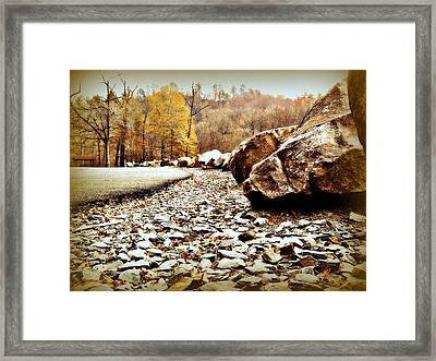 Fall Road Framed Print by Becky Foster