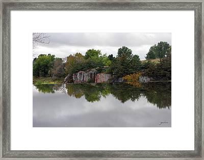 Fall Scene At Split Rock State Park Framed Print