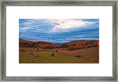 Fall Scenery In The Canadian Countryside Framed Print by Chantal PhotoPix