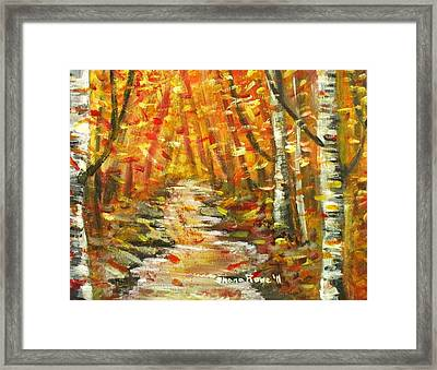 Framed Print featuring the painting Fall by Shana Rowe Jackson