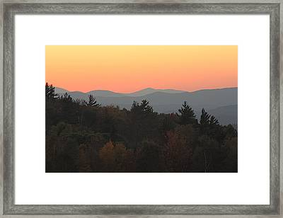Framed Print featuring the photograph Fall Sky At Sunset by Robin Regan