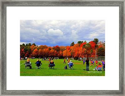 Fall  Sports Framed Print