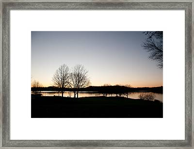 Fall Sunset Framed Print by Herman Boodoo