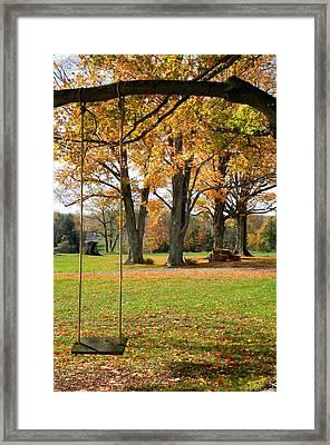 Fall Swing Framed Print by Jennifer Compton
