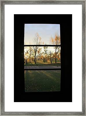 Fall Through The Window Framed Print