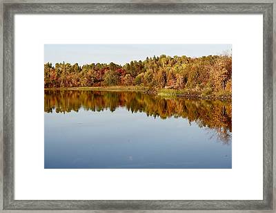 Fall Tranquility Framed Print by Shirley Mailloux