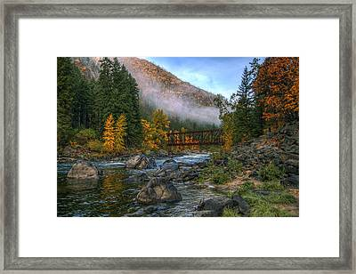 Fall Up The Tumwater Framed Print