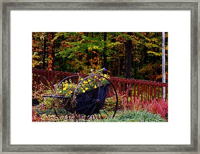 Fall Wagon Framed Print by Kevin Schrader