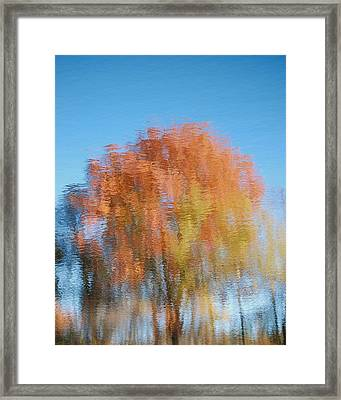 Framed Print featuring the photograph Fall Watercolor - Inverted by Mary McAvoy