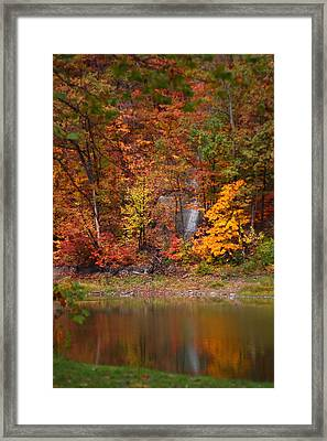 Fall Waterfall Framed Print by Kevin Schrader
