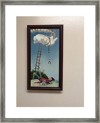 Fallen Angel Framed Print by Carlos Rodriguez Yorde