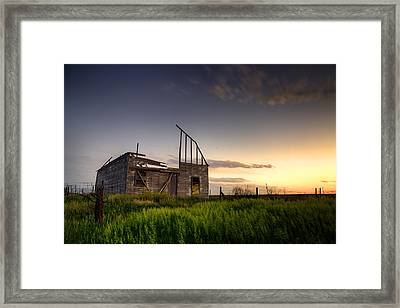 Fallen Barn Framed Print by Thomas Zimmerman
