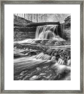 Fallen Bridge Framed Print by Coby Cooper