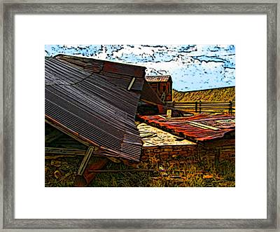 Fallen Building  Framed Print by Howard Perry