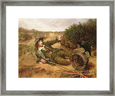 Fallen By The Wayside Framed Print by Edgar Bundy