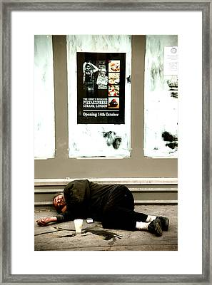 Fallen From A Life That Was Once Good Framed Print by Jez C Self