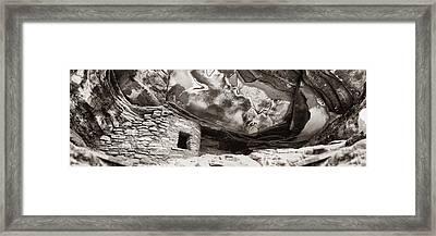 Fallen Roof Framed Print