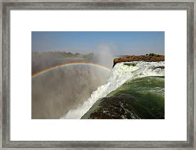 Falling Down  Falls, Zambia Framed Print