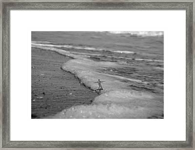 Falling For The Sea Framed Print