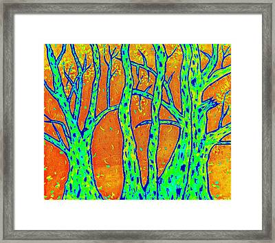 Falling Leaves Invert Framed Print