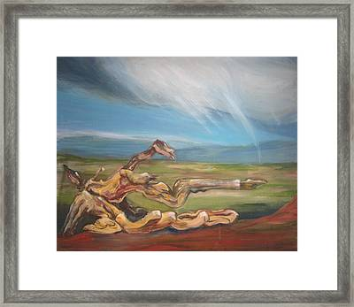 Falling Sky Framed Print by Sophie Brunet