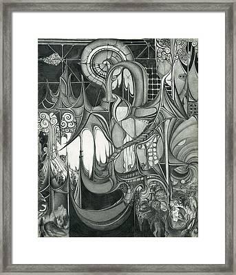 Falling Water City Framed Print
