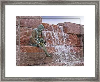 Falling Water Framed Print