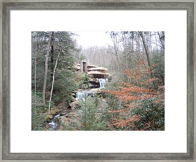 Framed Print featuring the painting Falling Waters Through The Trees by James Guentner