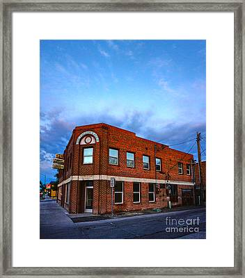 Fallon Nevada Building Framed Print by Gregory Dyer