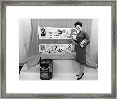 Fallout Shelter Supplies, Usa, Cold War Framed Print