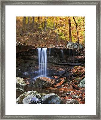 Falls At Frozen Head Framed Print by Charles Fletcher