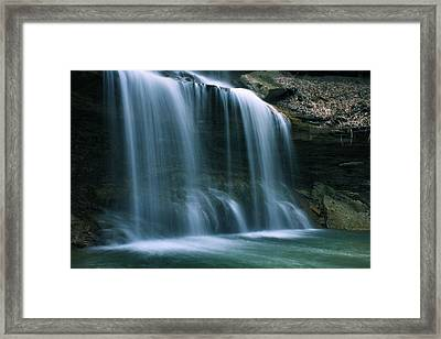 Falls Bottom Framed Print
