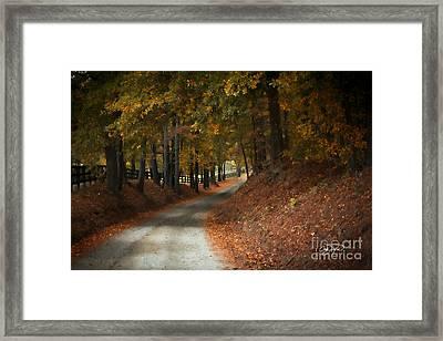Fall's Fast Arrival Framed Print